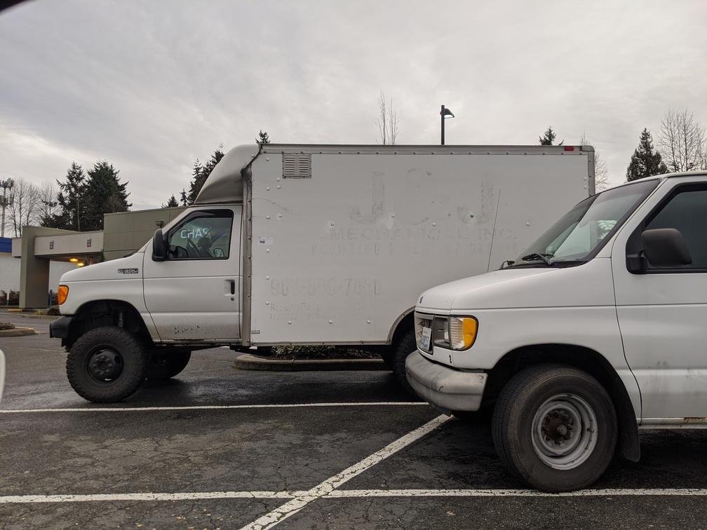Box truck survival vehicle