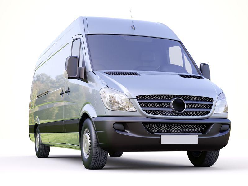 Gray Sprinter Van