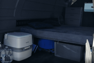 Interior Bug Out Vehicle Composting Toilet