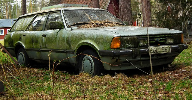 Old car with potentally gas in the tank