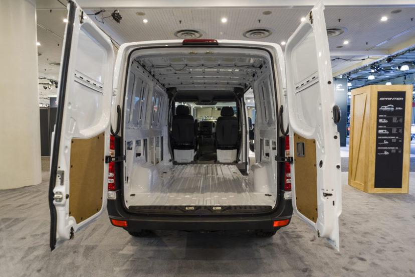 White Sprinter Van Inside View Of The Cabin
