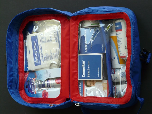 First aid kit for survival vehicle